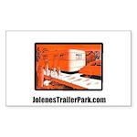 Red Trailer Park Rectangle Sticker