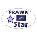 Prawn Star Oval Sticker