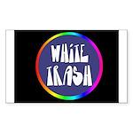 White Trash Rainbow Rectangle Sticker