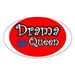 Drama Queen Oval Sticker