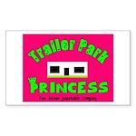 Trailer Park Princess Rectangle Sticker