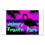 Jolene's Trailer Park Purple Rectangle Sticker
