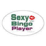 Sexy Bingo Player Oval Sticker