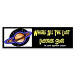 Lost Airline Luggage Bumper Sticker