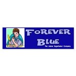Forever Blue Eyeshadow Bumper Sticker