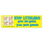 Stop Littering Spay and Neuter Bumper Sticker