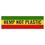 Hemp Not Plastic Bumper Sticker
