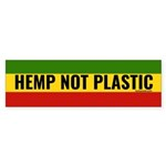 Hemp Not Plastic Bumper Sticker