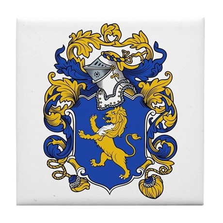 Meredith Family Crest Tile Coaster