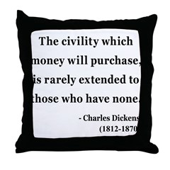 Charles Dickens 10 Throw Pillow