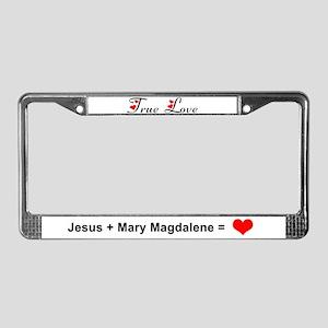 JC + MM License Plate Frame