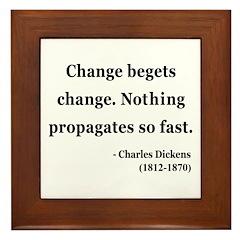 Charles Dickens 9 Framed Tile