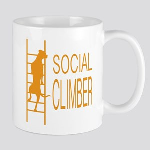 Social Climber Dog Orange Mugs