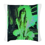 Witch Goddess Woven Throw Pillow