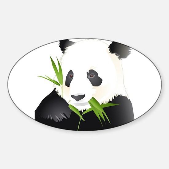 Panda Bear Sticker (Oval)