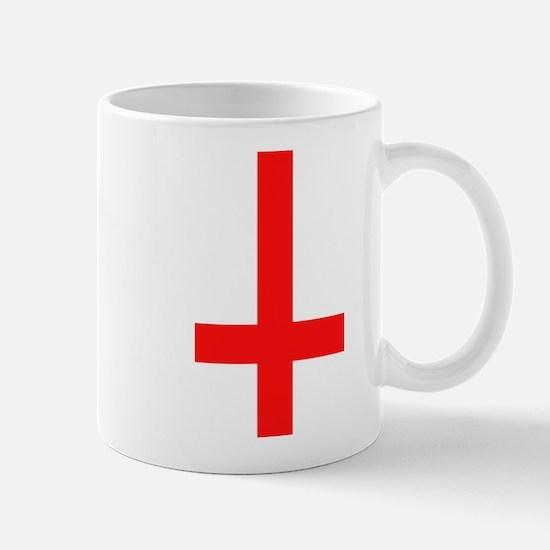 Red Inverted Cross Mug