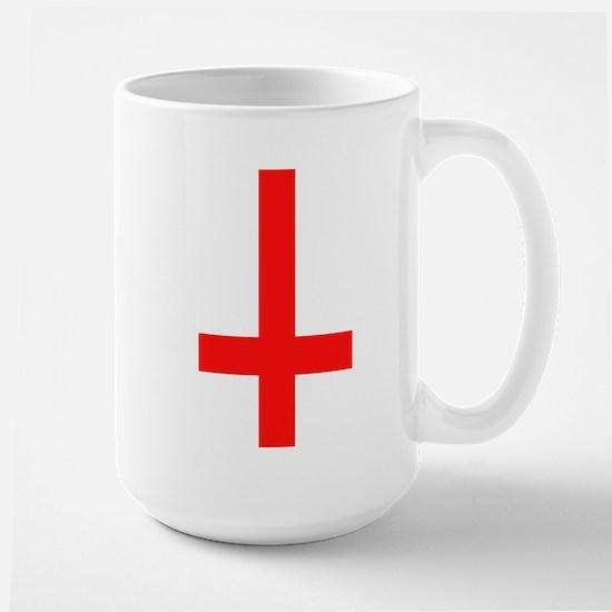 Red Inverted Cross Large Mug