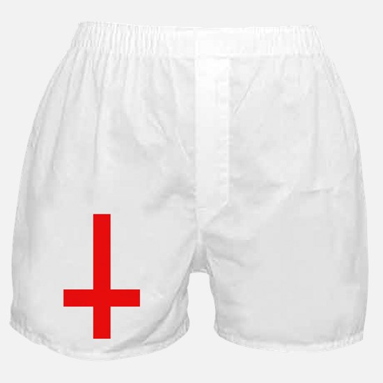 Red Inverted Cross Boxer Shorts