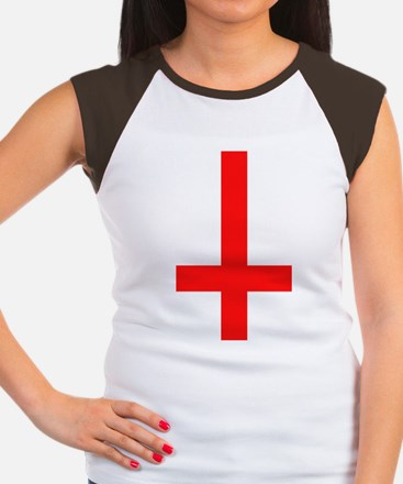 Red Inverted Cross Women's Cap Sleeve T-Shirt