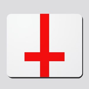 Red Inverted Cross Mousepad