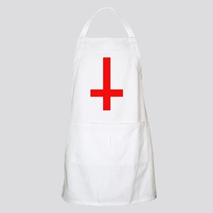 Red Inverted Cross BBQ Apron