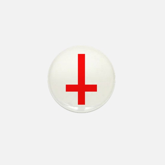 Red Inverted Cross Mini Button