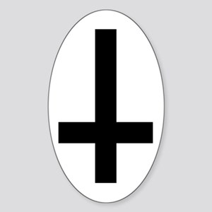 Inverted Cross Oval Sticker