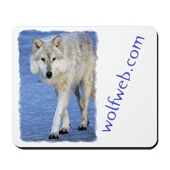 Wolf on Ice Mousepad