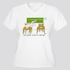 Animal Testing Women's Plus Size V-Neck T-Shirt