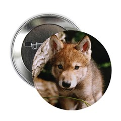 Wolf Pup Button