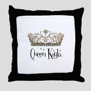 Queen Kayla Throw Pillow
