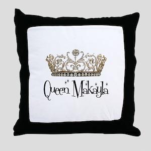 Queen Makayla Throw Pillow