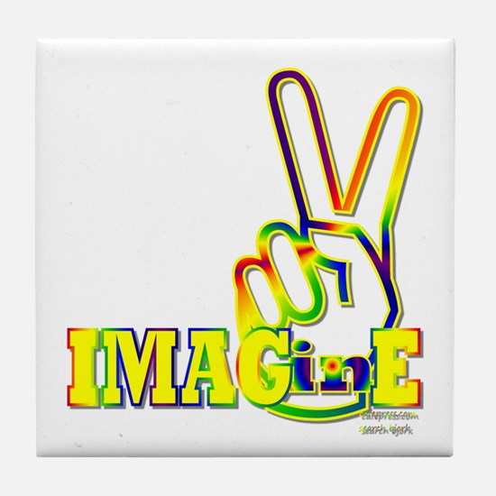 Cute Imagine peace Tile Coaster