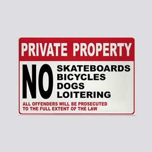 PRIVATE PROPERTY Rectangle Magnet