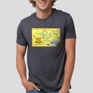 Lake of the Ozarks Map T-Shirt