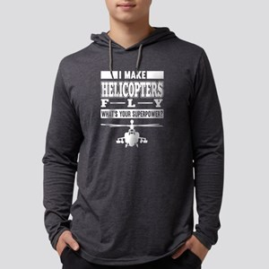 I Make Helicopters Fly T Shirt Long Sleeve T-Shirt