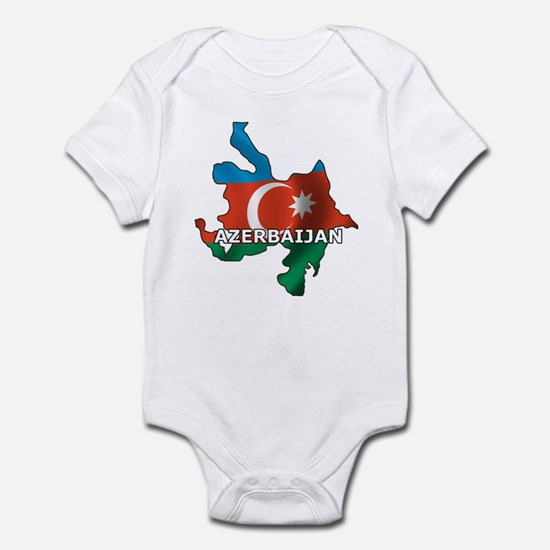 Map Of Azerbaijan Infant Bodysuit