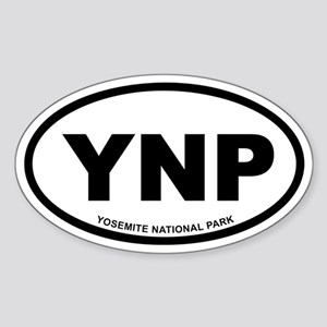 Yosemite National Park Euro Oval Sticker