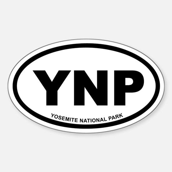 Yosemite National Park Euro Oval Decal