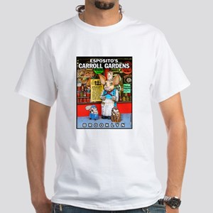 Carroll Gardens Esposito's Pig White T-Shirt