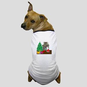 Santa Yellow Lab Dog T-Shirt