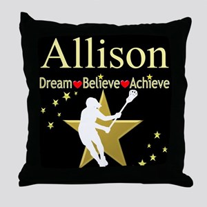 LACROSSE GIRL Throw Pillow