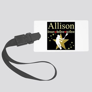 LACROSSE GIRL Large Luggage Tag