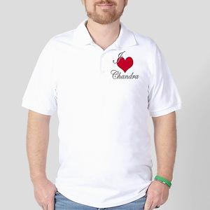 I love (heart) Chandra Golf Shirt