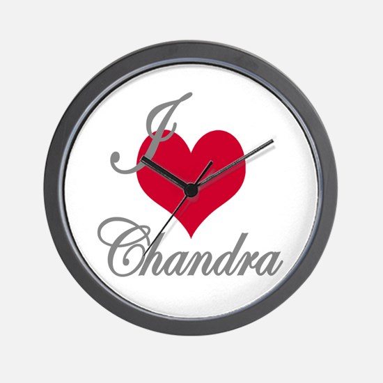I love (heart) Chandra Wall Clock