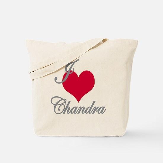 I love (heart) Chandra Tote Bag