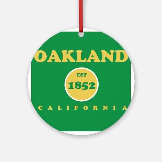 Oakland 1852 Round Ornament