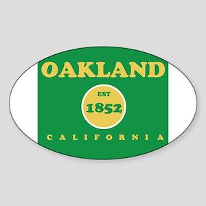Oakland 1852 Sticker (Oval)