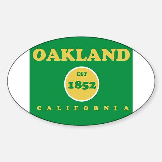 Oakland 1852 Sticker (Oval)