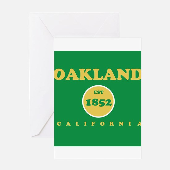 Oakland 1852 Greeting Card